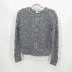 Gap Marled Cable Knit Crew Sweater